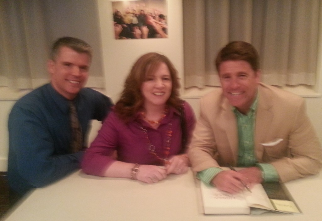 Hunky Hubby, Ronie, and Brad (picture blurred to protect the...uh...innocent)