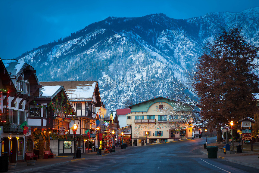 Leavenworth, Washington during the annual Leavenworth's Town and Tree Lighting